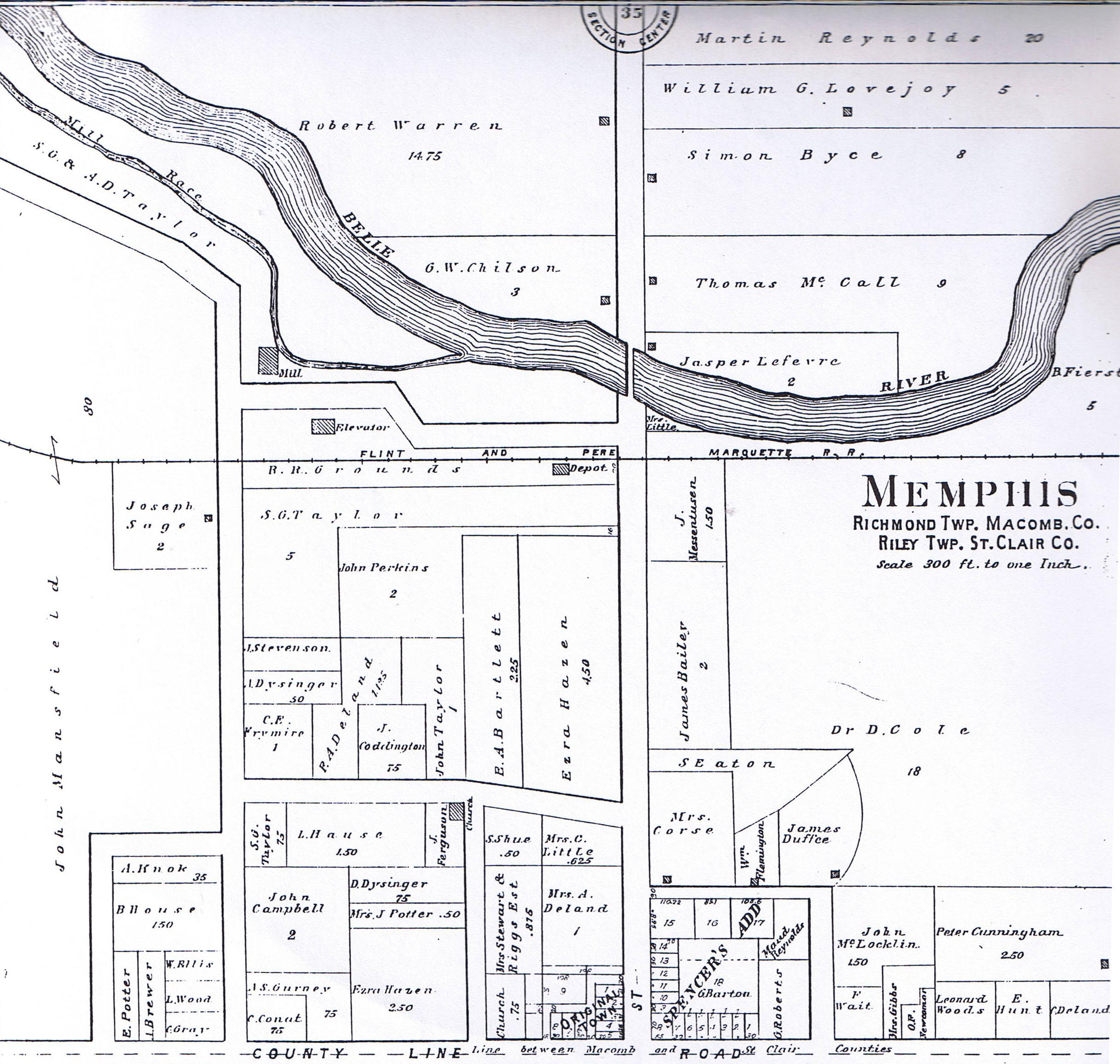 Memphis Michigan Map.Memphis Michigan Map