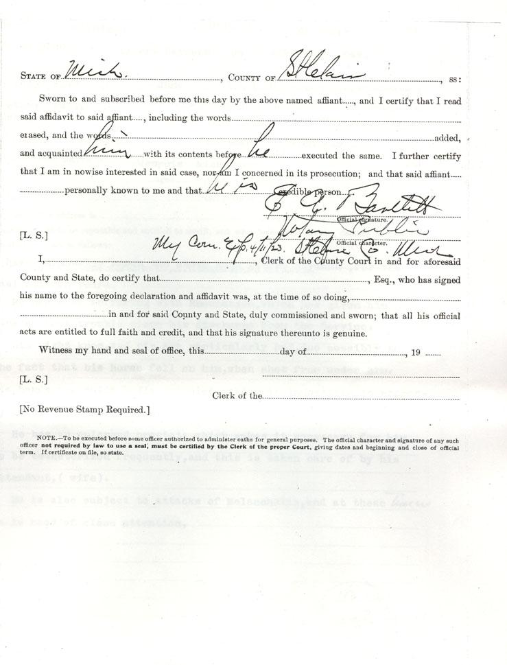 Albert Raymond Civil War Pension