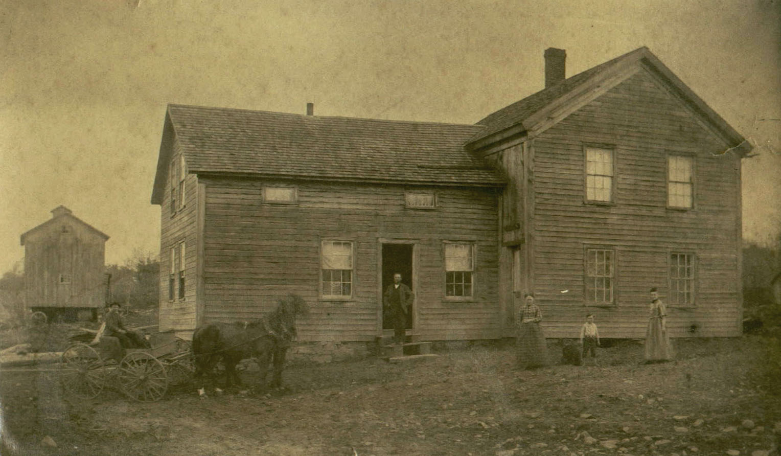 New york oswego county parish - The Farm Of Abraham T House In Parish Oswego County From Left William House In Carriage Abe T House In Front Of Door Louisa House Lewis House